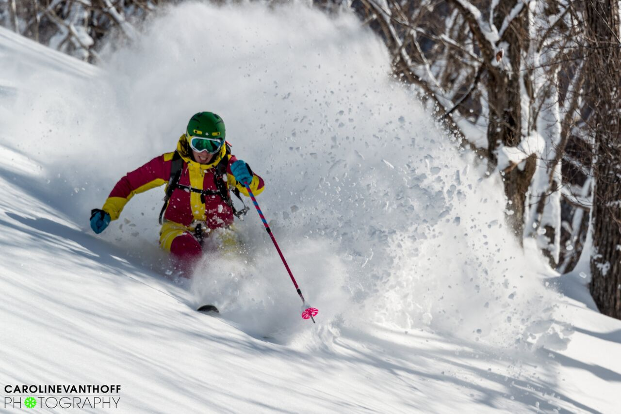 The girls scored perfect conditions for their stay in Nozawa Onsen...