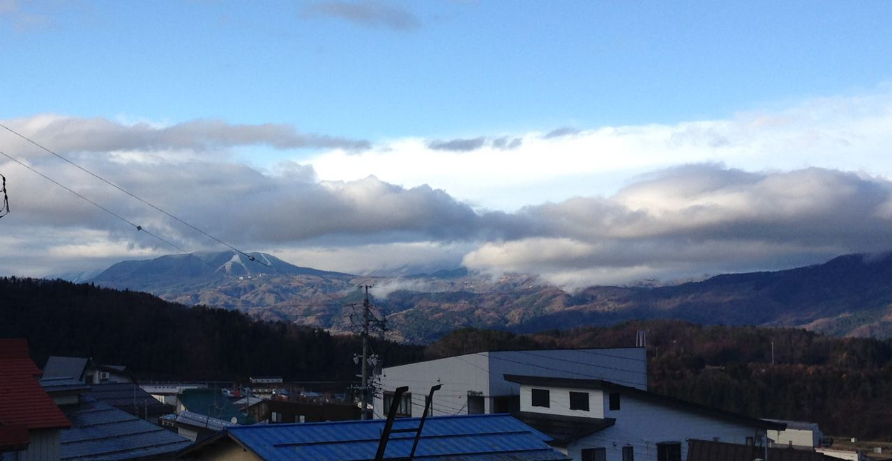 Bit of a white delight on the slopes in Madarao across from Nozawa