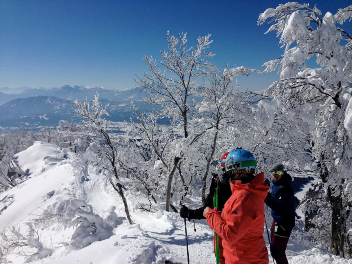 The Red White and Blue with views that go forever in Nozawa
