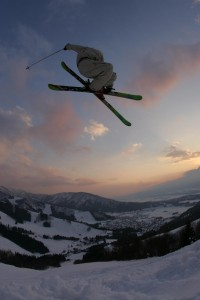 Flying high above Nozawa Onsen