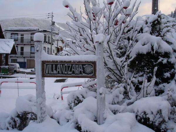 Villa Nozawa new sign new Snow Fall