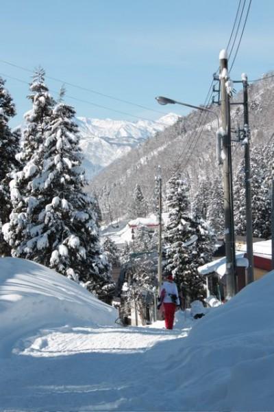 The Road/Ski Slope from Nozawa House to Nozawa Village