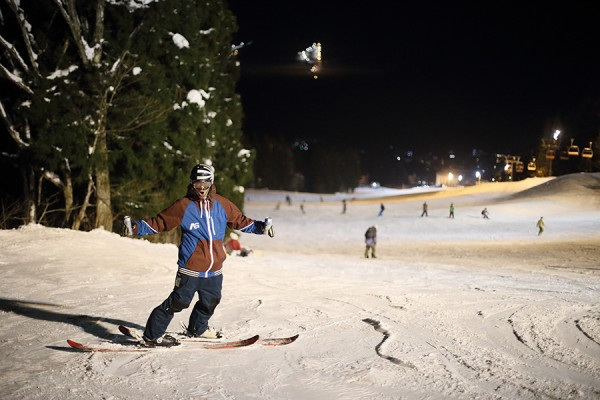 Skiing into the new year in Nozawa Onsen.