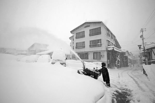 Clearing snow after a 50cm dump.