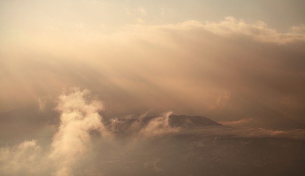 Sunset mists.