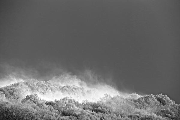 A windswept peak just outside of Nozawa Onsen.