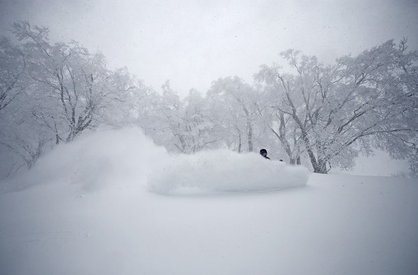 Brad neck deep in some crazy late March powder.