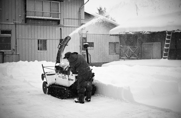 Snow clearing.