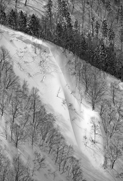 Tempting backcountry lines.