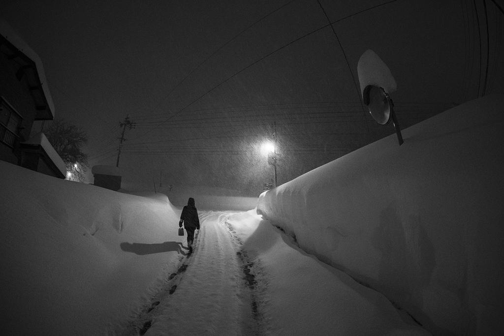 A winters night in Nozawa Onsen.