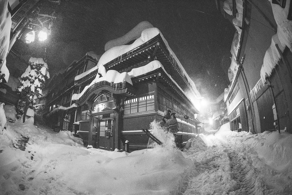 1am urban skiing, Nozawa style.