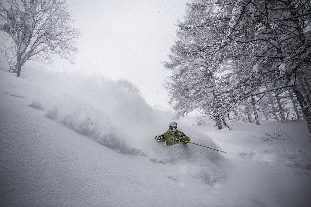 Lubo skis some of the deepest, driest powder around.