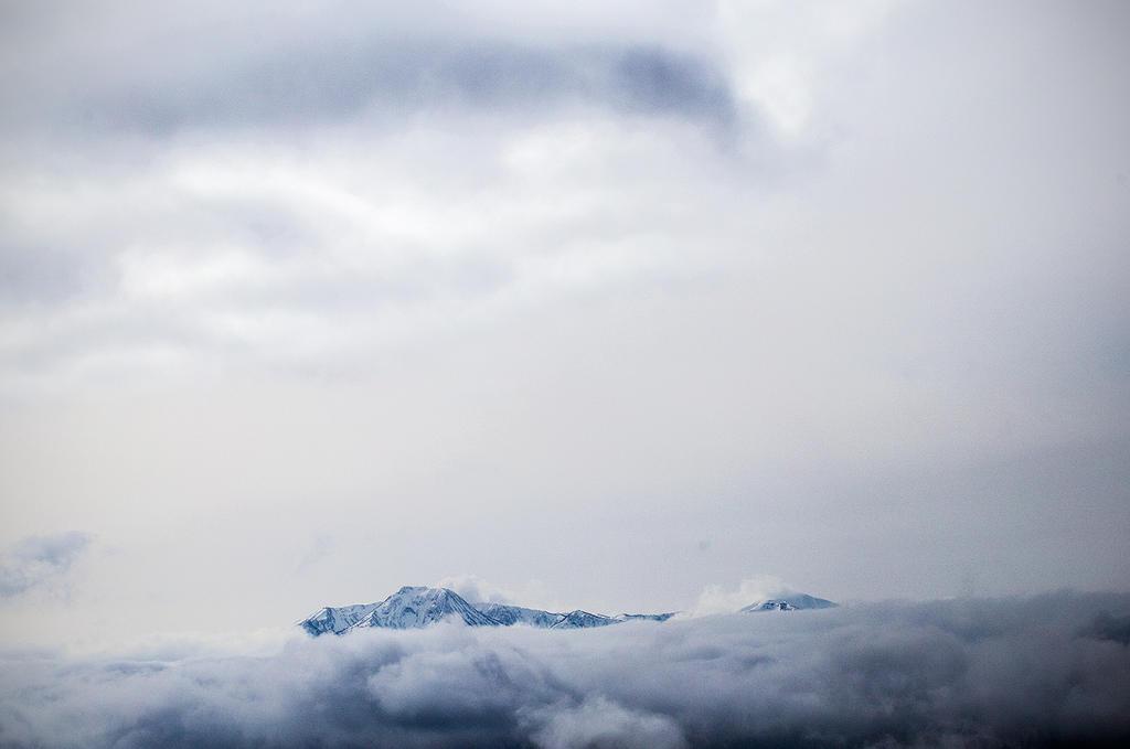 Myoko area between the clouds.