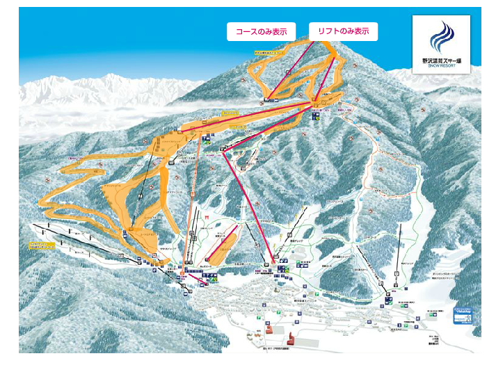 Lifts and Runs Operating in Nozawa Onsen as at 30th of March 2015