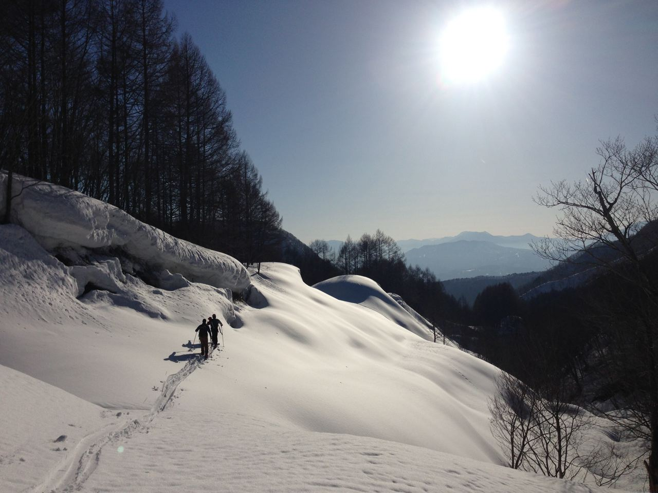April a great time of the year to do some ski touring in Nozawa Onsen