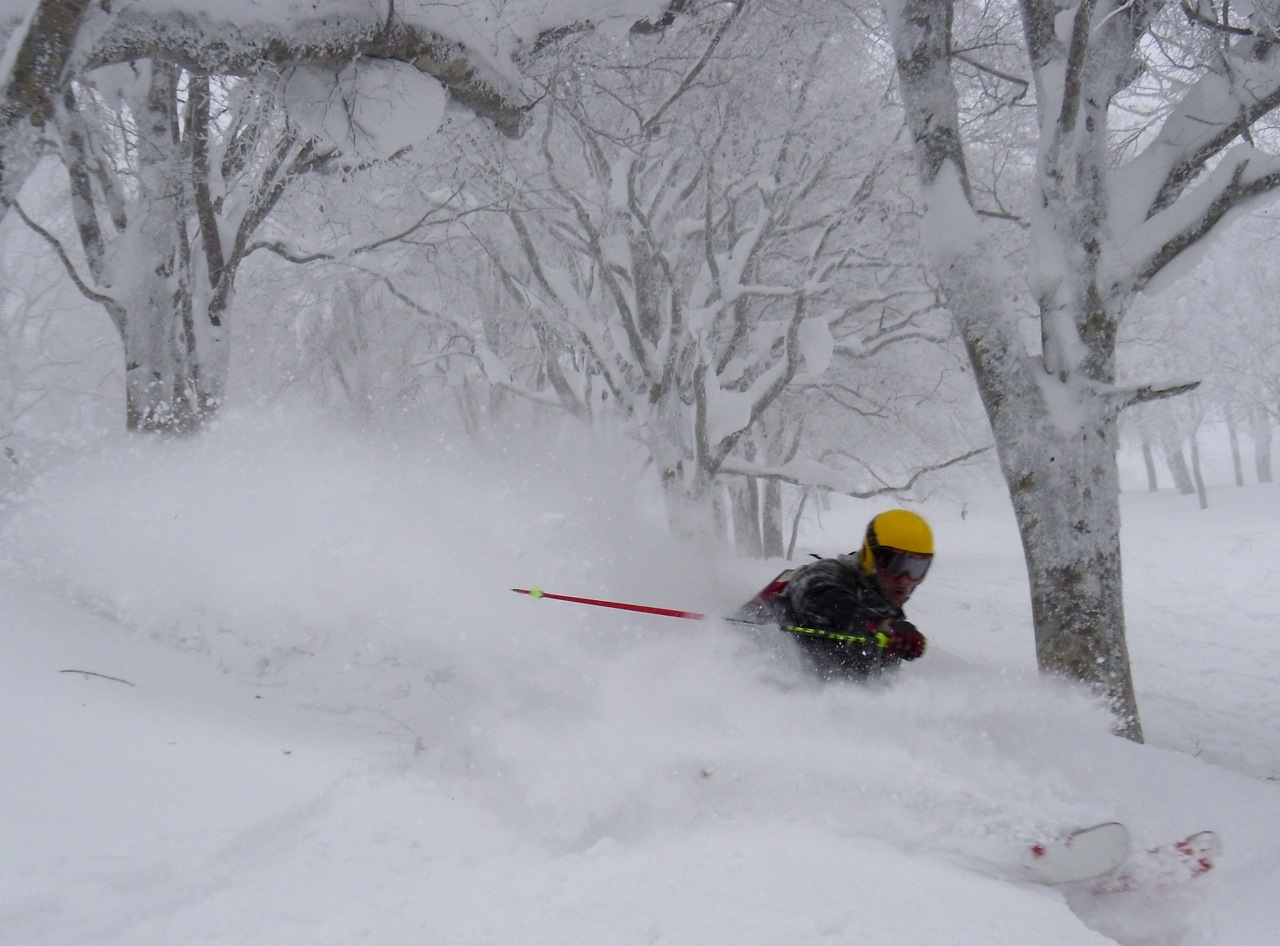 Stop sweating and pout yourself in the picture deep in some Nozawa Powder!