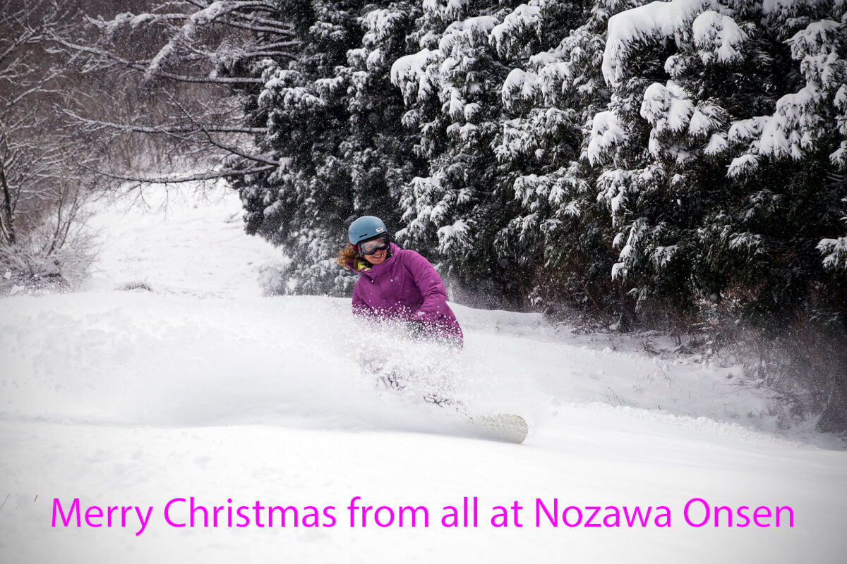 Kelsey smashes through some untouched pow on Christmas Eve