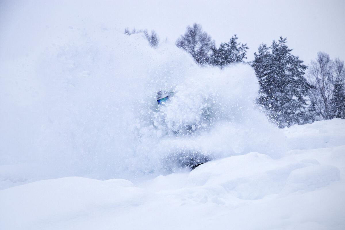 Snow rafting Nozawa Onsen.