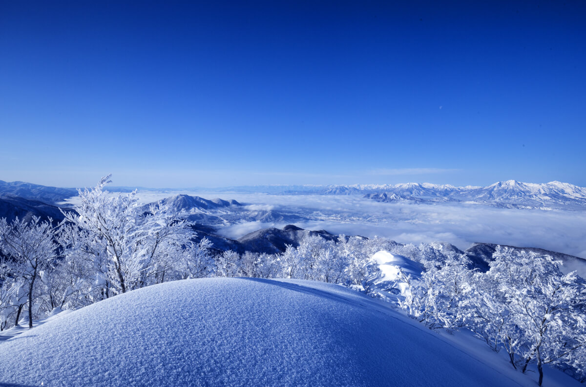 The unbelievable views of a clear day at Nozawa Onsen.