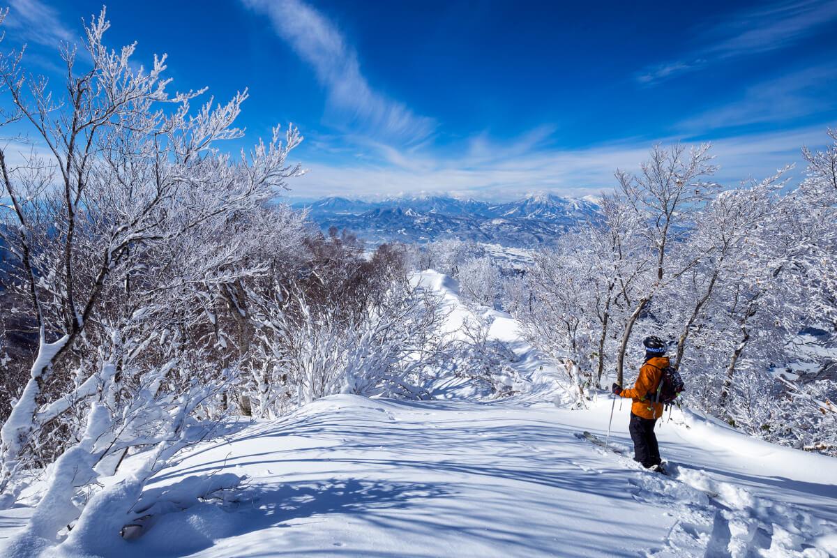 Ski touring near Nozawa Onsen