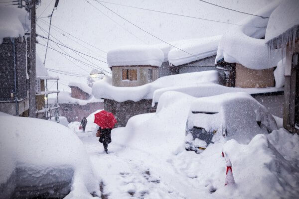 Nozawa Onsen village re-buried